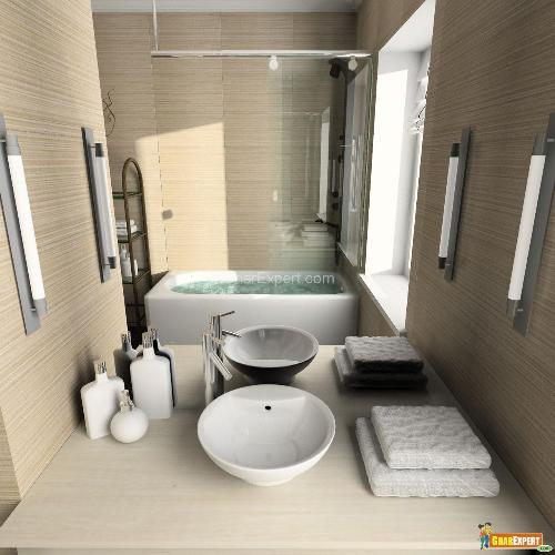 Recessed bathtub