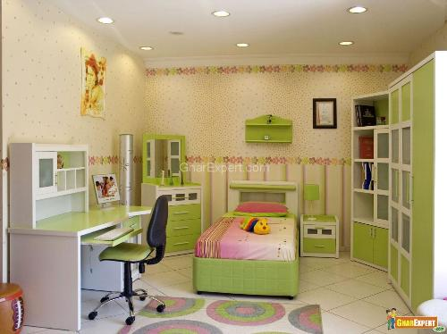 Kid's Bedroom Furniture in Green