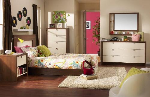 stylish dressers in teen bedroom