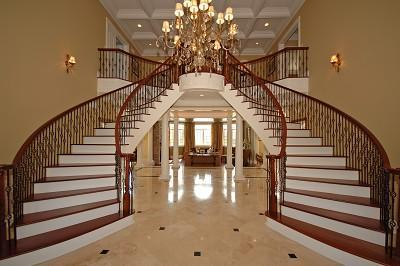 Wooden staircase railings are durable and strong