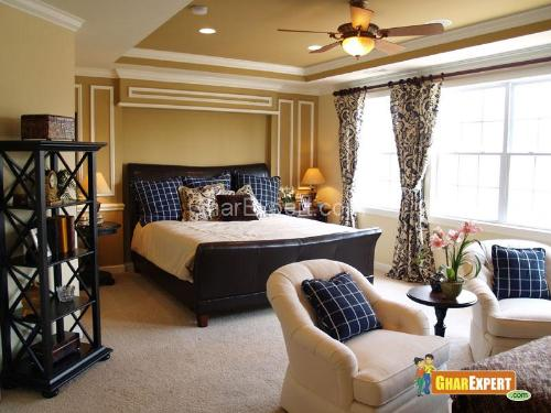 Bedroom ceiling design bedroom ceiling colors high low ceiling design in bedroom pop - Master bedroom ceiling designs ...
