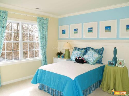 Cool Blue Theme for Bedroom Decoration
