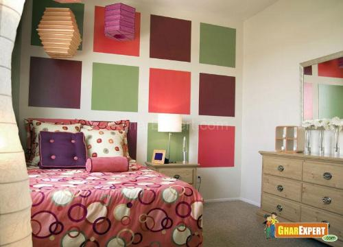 Decoration with Colorful Pillows and Bedspreads