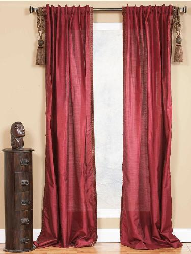 Living Room Curtains with Tassels