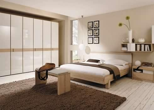 Contemporary Bedroom Set in Earthy Color