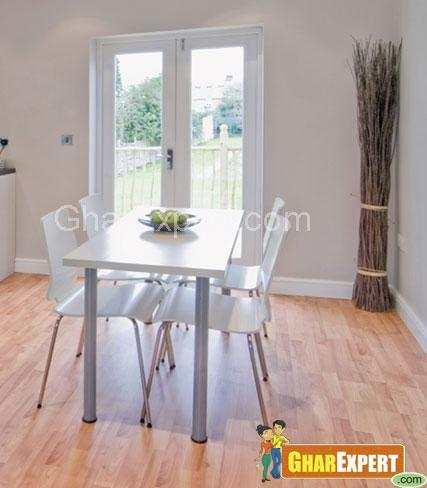 Laminate flooring for dining