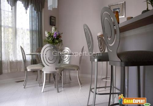 Dining silver chairs