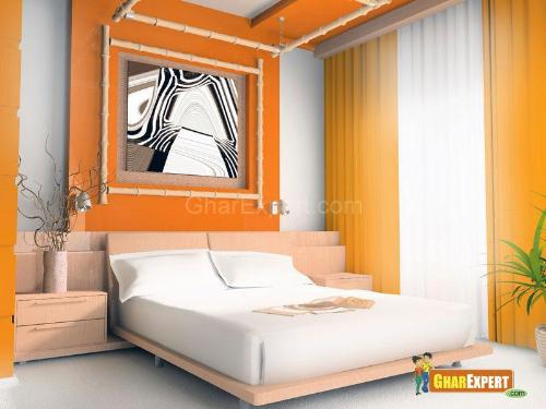 Orange Bedroom Theme for Decoration