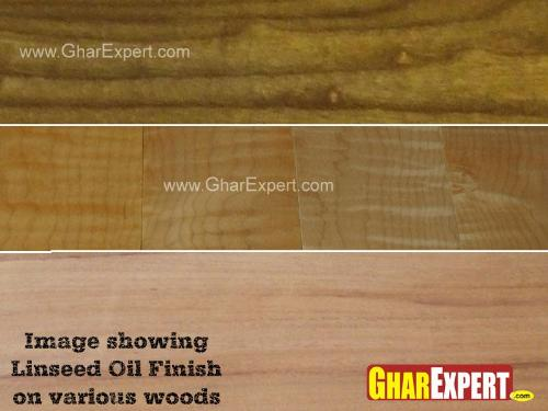 Different Wooden Surfaces after Linseed Oil Finish