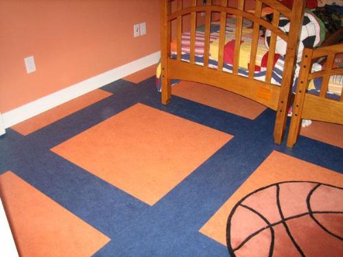 Linoleum flooring in kids room