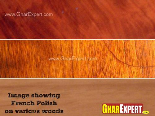 Wooden Surface after French Polish