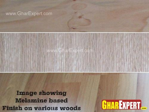 Melamine Based Finish on Wooden Surfaces