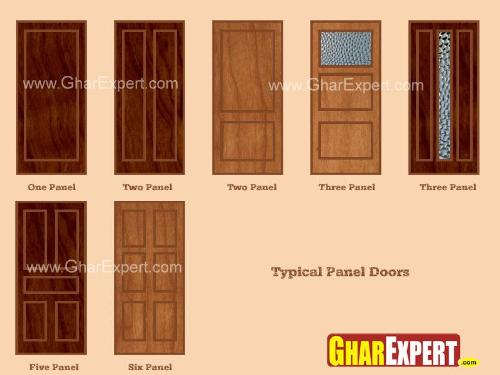 Different Types of Panel Doors & Panel Door Advantages and Disadvantages of Panel Doors - GharExpert.com