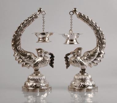 Adorn silver idols for pooja room