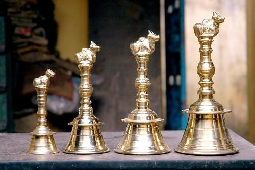 Brass bells for pooja room