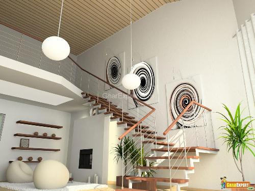 Metal Staircase railing design