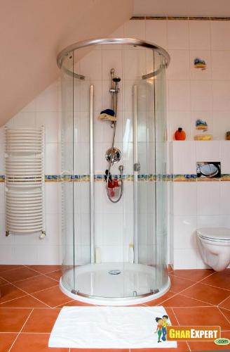 Sliding doors are perfect choices for small bathrooms. Bathroom Shower door