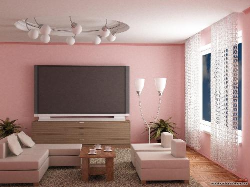 Pink color for living room