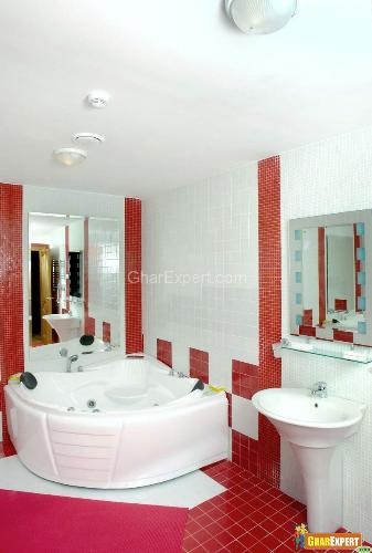 Bathroom Design with Jacuzzi Bath