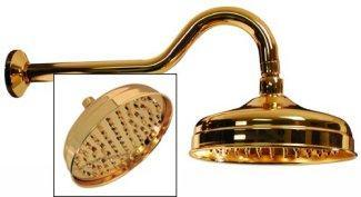 fixed shower heads with golden