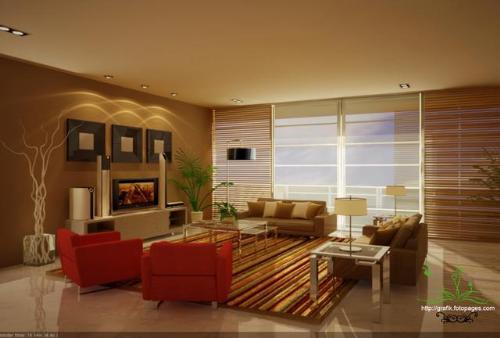 brown color for living room - Color Shades For Living Room
