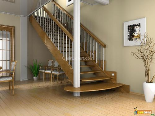 Matching wooden flooring with Staircase railing
