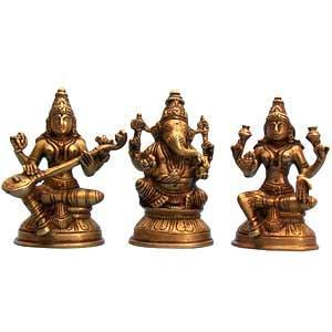 Pooja room idols in wood or metal