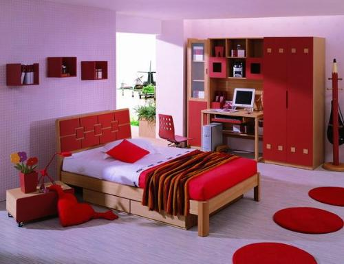 Light Pink Colored Bedroom