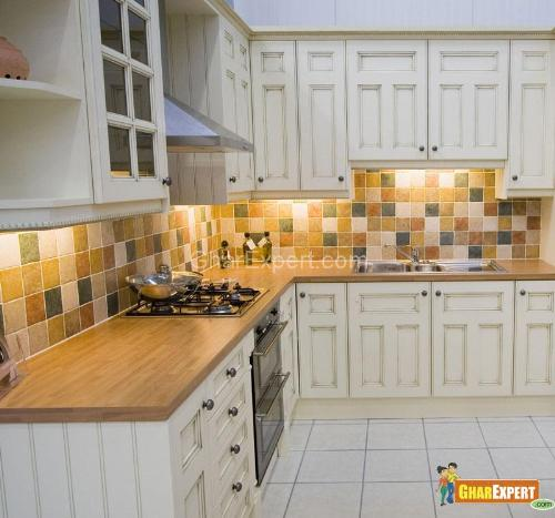 Multi color tiles for backsplash