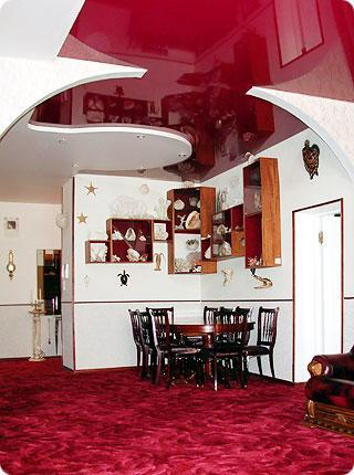 False Ceiling designs in red