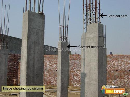 Black Metal Pillar Building : Column and frame structure building construction