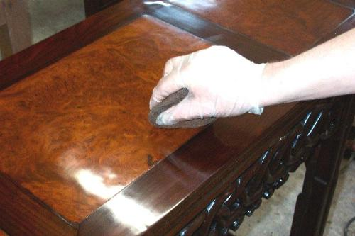 Application of french polish