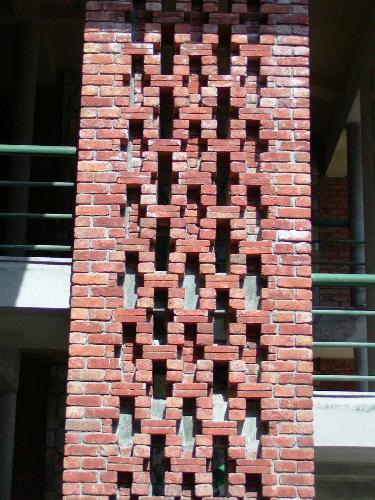 Honeycomb Brick Work : Brick jali archistud where creativity takes shape