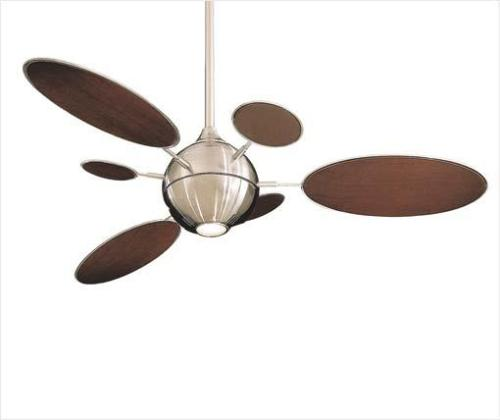 Design ceiling fan with blades short and long sizes