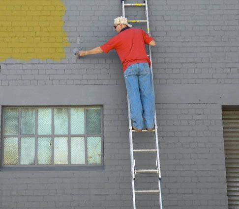Painting on Exterior Wall
