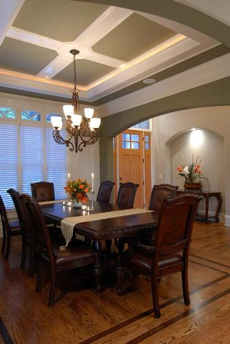 Dining room ceiling dining room ceiling designs tray for Dining room tray ceiling paint ideas