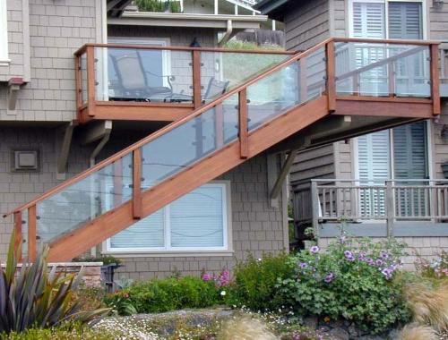 Garden under stairs