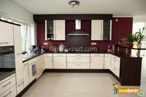 Best Color Combination for Modular kitchen Cabinets and walls