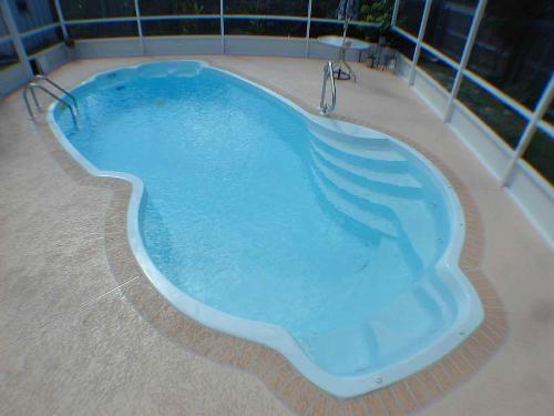 Fiber glass swimming pool