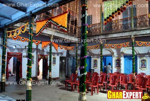 10 days homeage space decoration on Ganpati Chaturthi festival