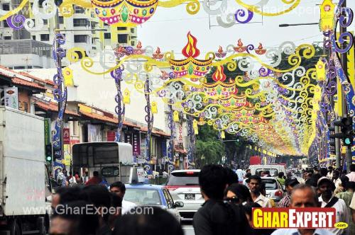 Street decoration on ganesh chaturthi