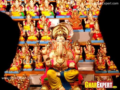Ganpati clay models