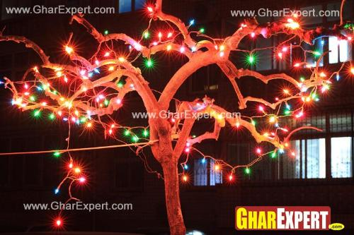 String lighting on ganesh chaturthi