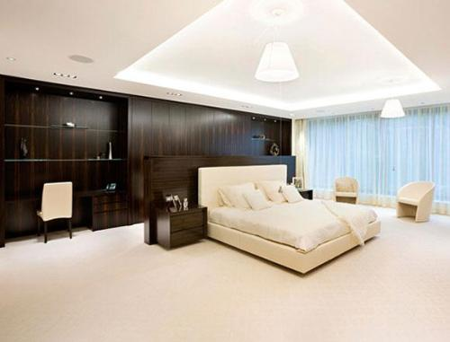 Large bedroom design and furnishing