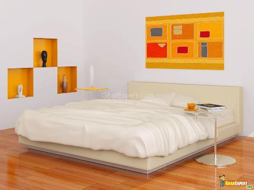 yellow and white bedroom designs