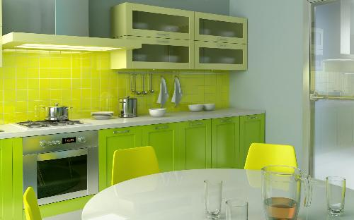 A colorful Kitchen backsplash idea