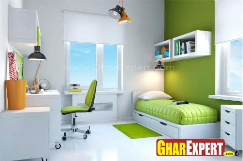 Kids room decoration in green