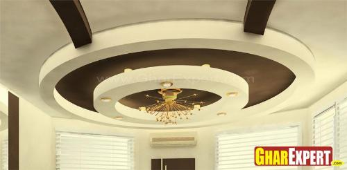 Round POP Ceiling or Plaster Ceiling Design