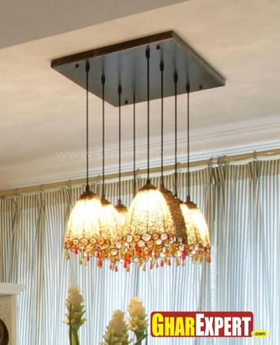 Muli-color crystal chandelier design