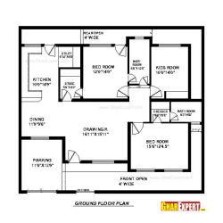 House Plan For 60 Feet By 39 Feet Plot Plot Size 260